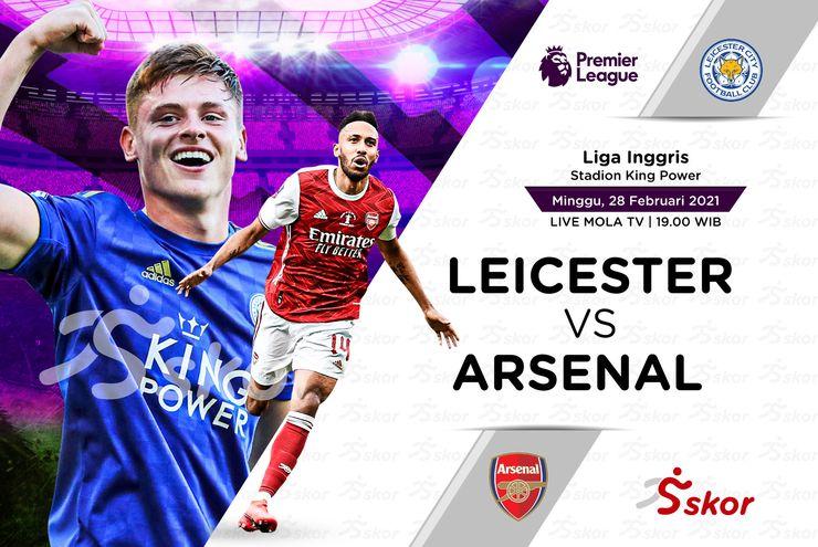 Link Live Streaming Leicester City vs Arsenal di Liga Inggris