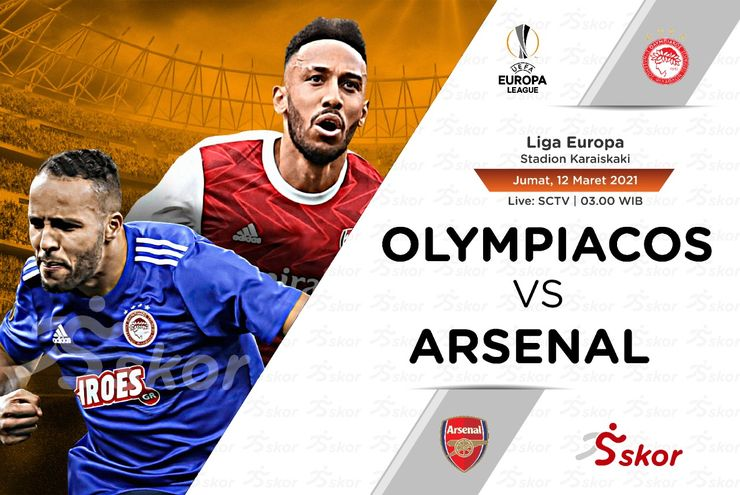 Link Live Streaming Olympiakos vs Arsenal di Liga Europa