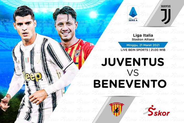 Link Live Streaming Juventus vs Benevento di Liga Italia
