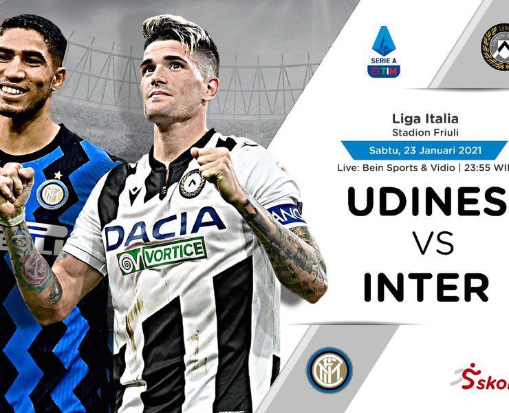 Link Live Streaming Udinese vs Inter Milan di Liga Italia