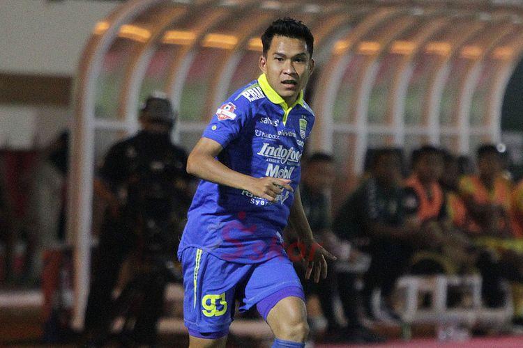 Erwin Ramdani saat membela Persib Bandung pada Liga 1 2019.