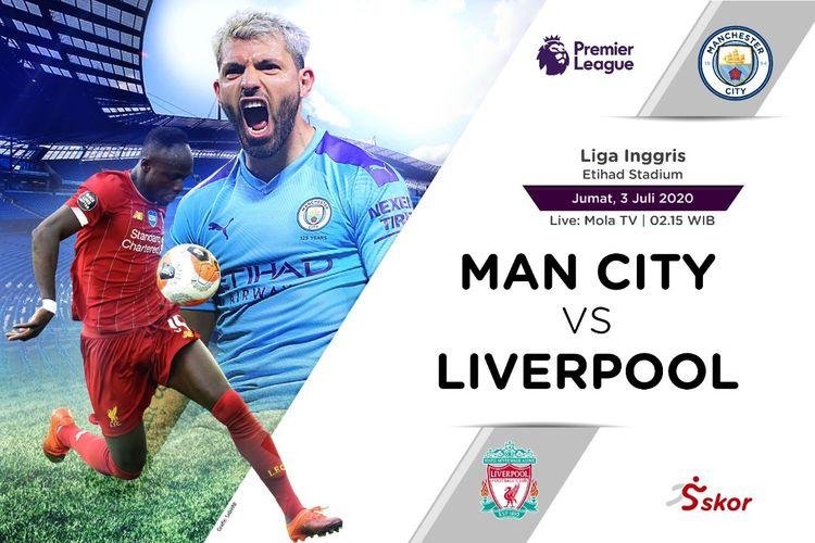 Link Live Streaming Liga Inggris: Manchester City vs Liverpool