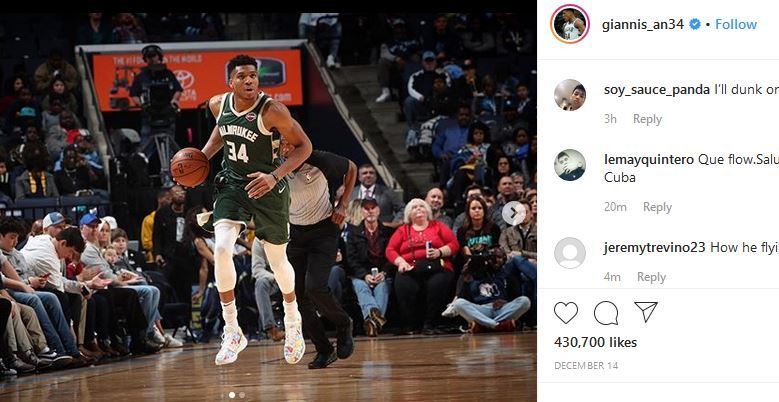 Giannis Antetokounmpo, pebasket Milwaukee Bucks.