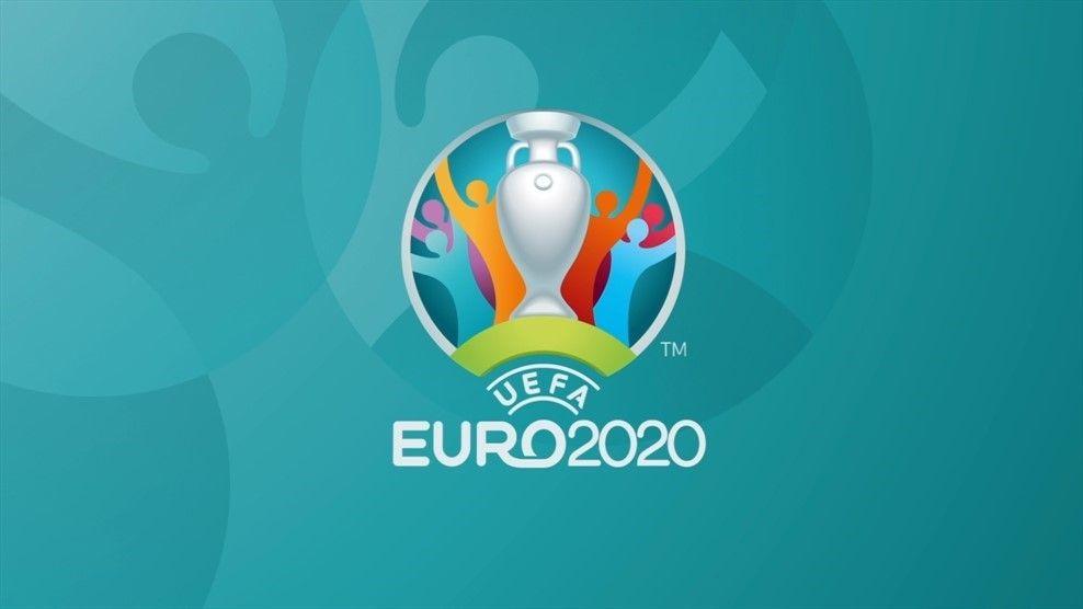 Grafis banner resmi gelaran Piala Eropa atau Euro 2020.