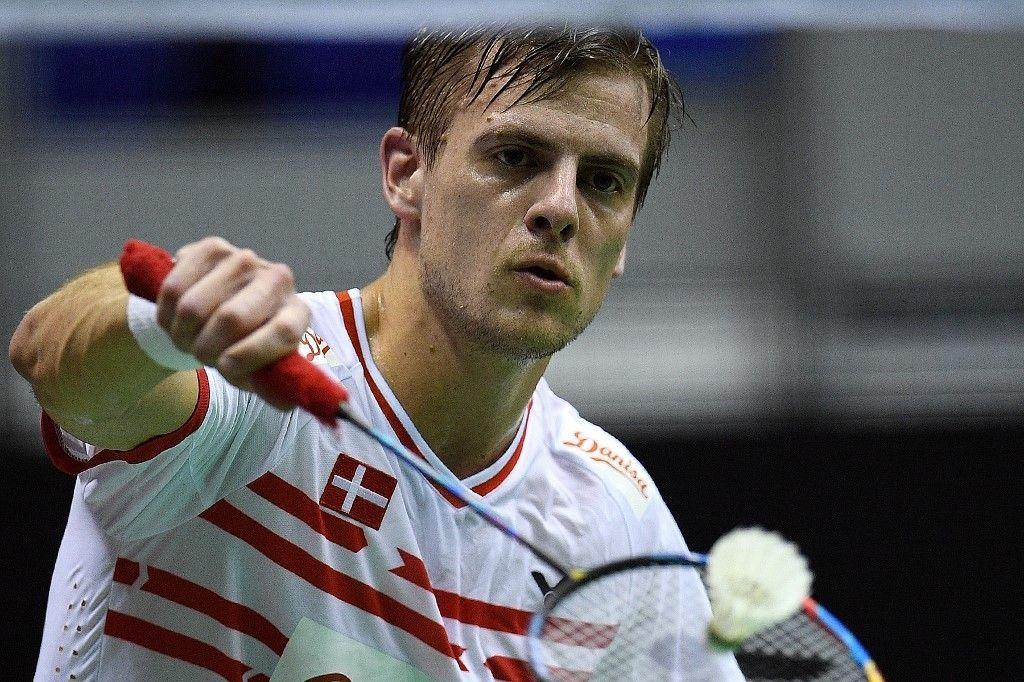 Hans-Kristian Vittinghus, pebulu tangkis Denmark yang turun di Malaysia Masters 2018, Kuala Lumpur, Malaysia, 19 Januari 2018.