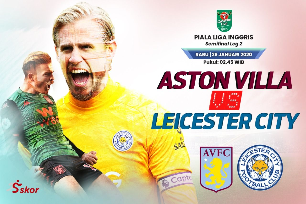 Susunan Pemain Aston Villa Vs Leicester City Skor