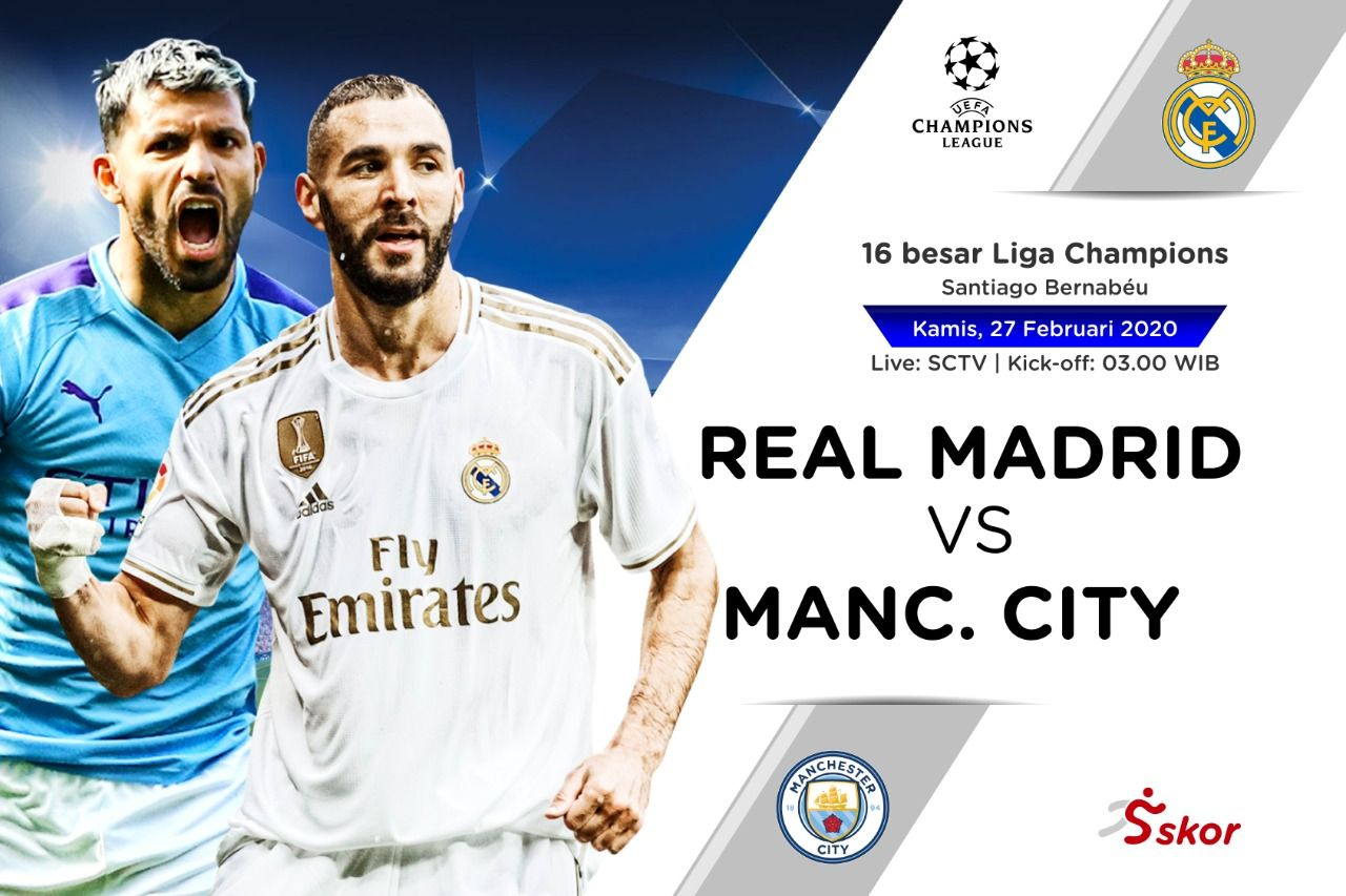 Susunan Pemain Real Madrid Vs Manchester City Skor