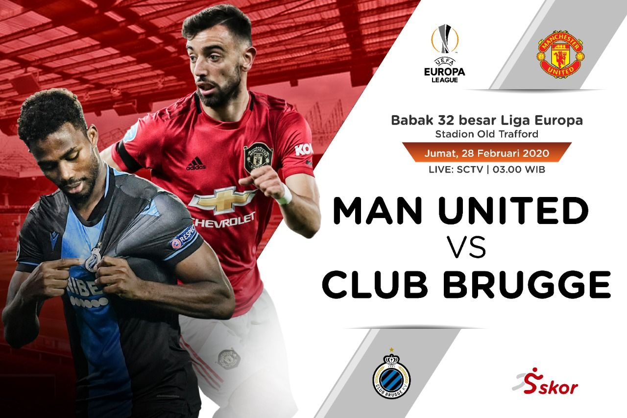 Link Live Streaming Manchester United Vs Club Brugge Skor