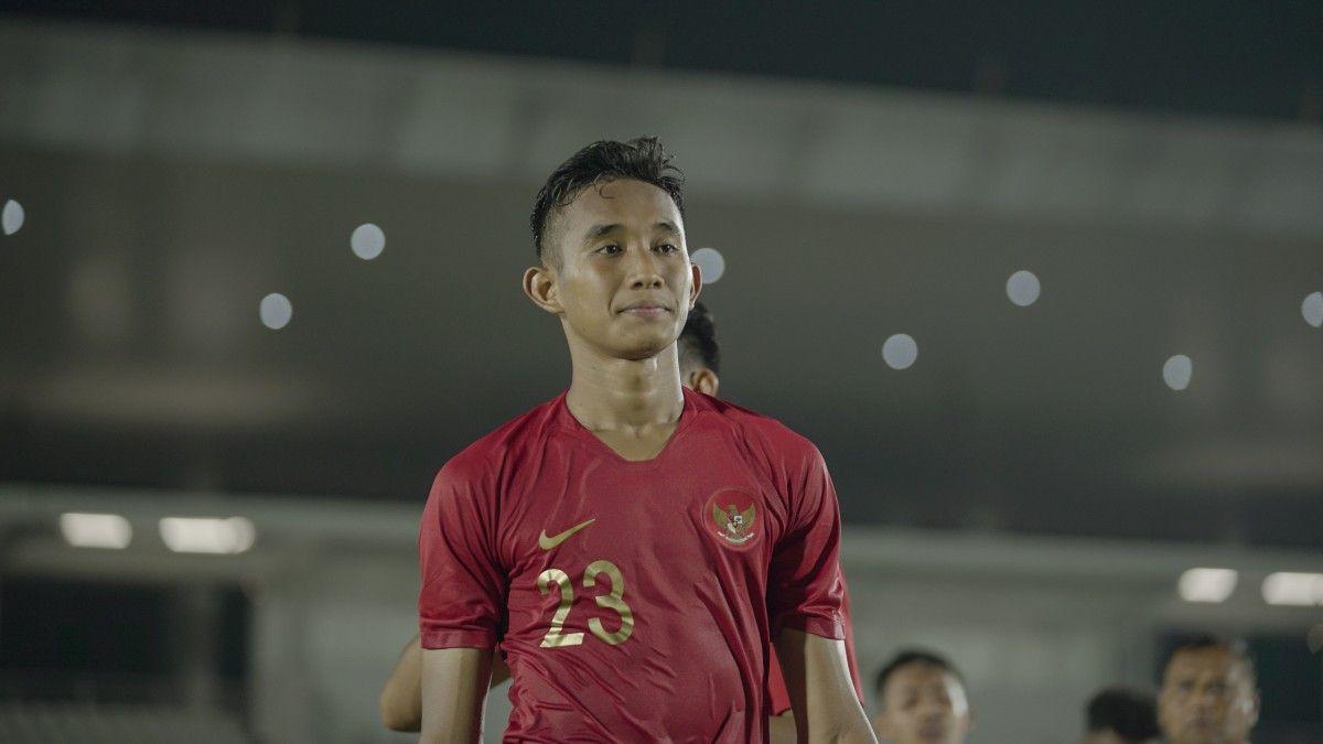 Bek timnas Indonesia U-19 dan Persebaya Surabay, Rizky Ridho Ramadhani.