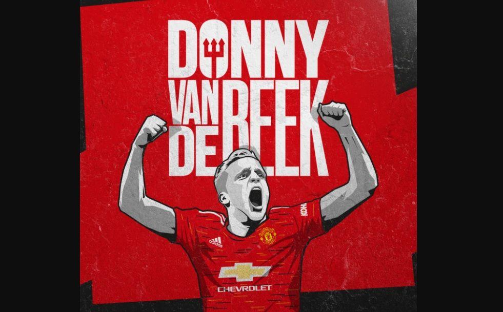 Ilustrasi rekrutan anyar Manchester United, Donny van de Beek.