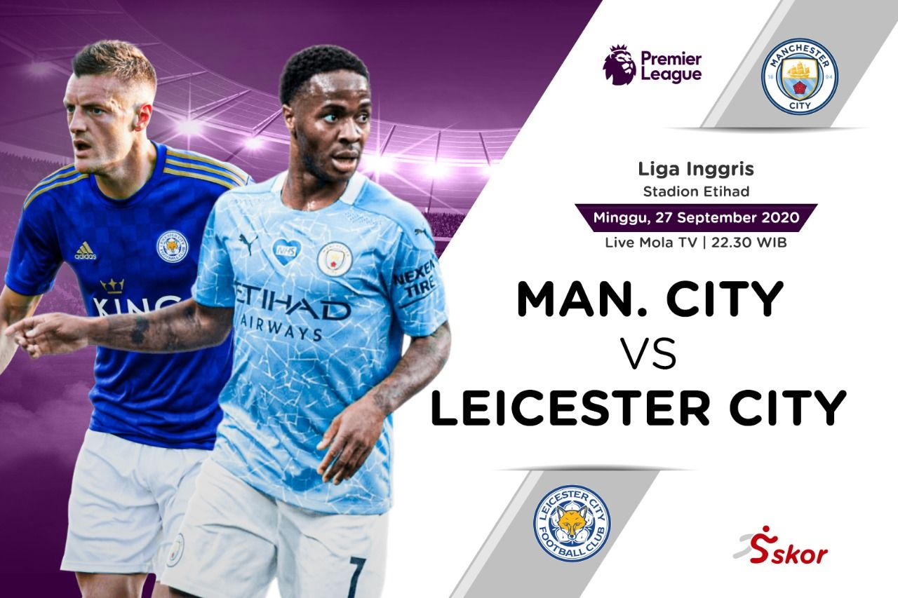 Link Live Streaming Liga Inggris Manchester City Vs Leicester City