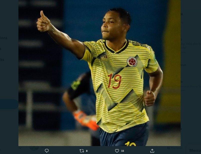 Luis Muriel tampil brilian bersama timnas Kolombia saat menghadapi Venezuela di Kualifikasi Piala Dunia 2022, di Barranquilla, Jumat 9 Oktober 2020.
