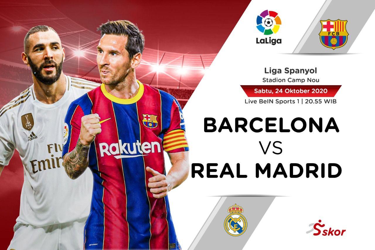Link Live Streaming Barcelona Vs Real Madrid Di Liga Spanyol
