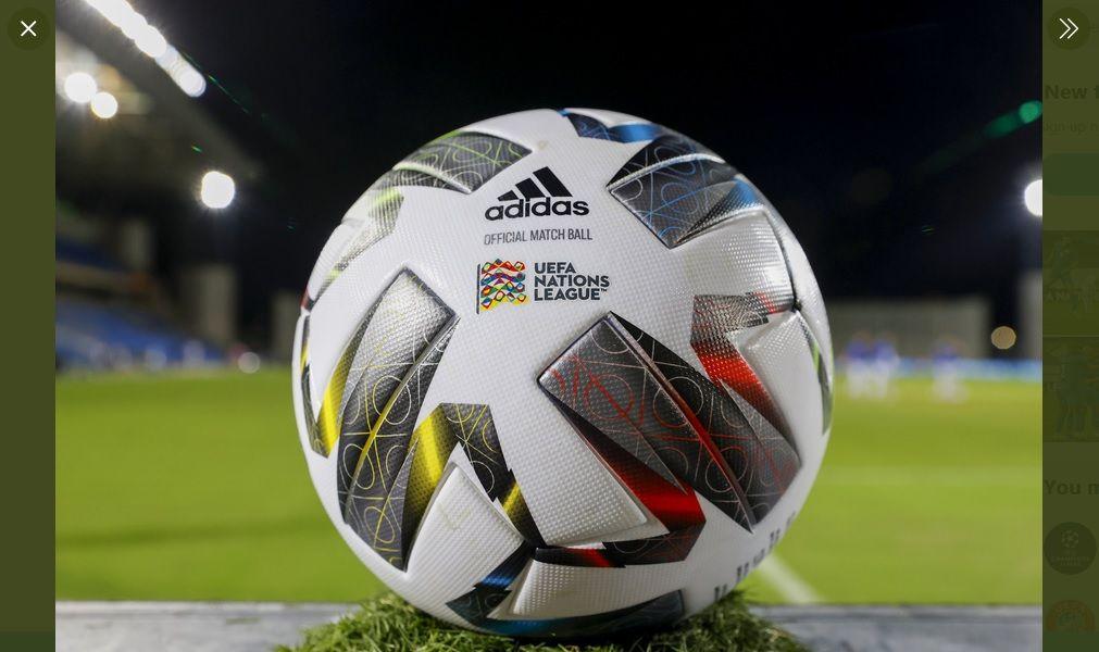 Bola resmi UEFA Nations League.