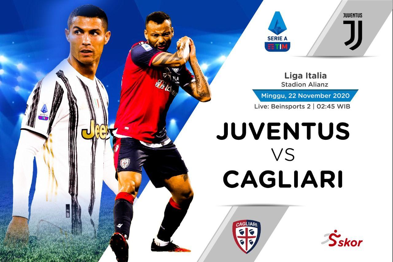 Cover laga Liga Italia, Juventus vs Cagliari.