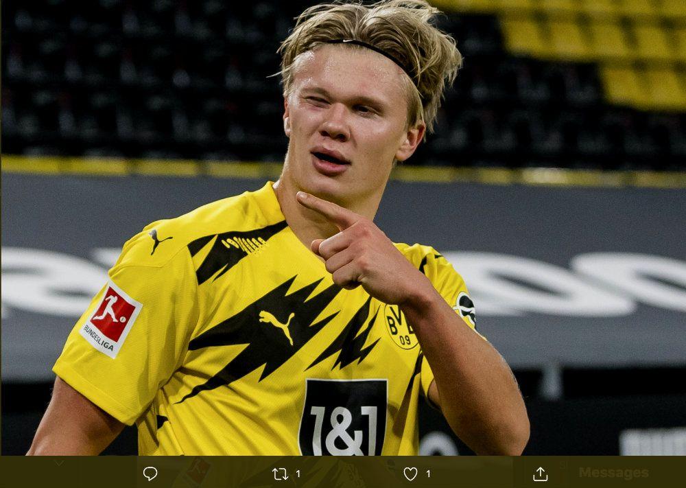 Bintang Borussia Dortmund, Erling Haaland.