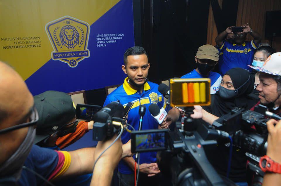 Faiz Subri saat diperkenalkan Northern Lions FC klub Liga M3 pada 2020.