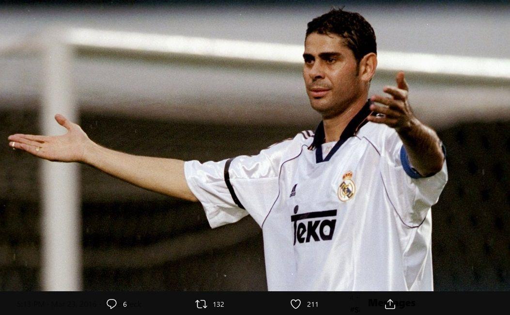 Fernando Hierro ketika masih bermain di Real Madrid.