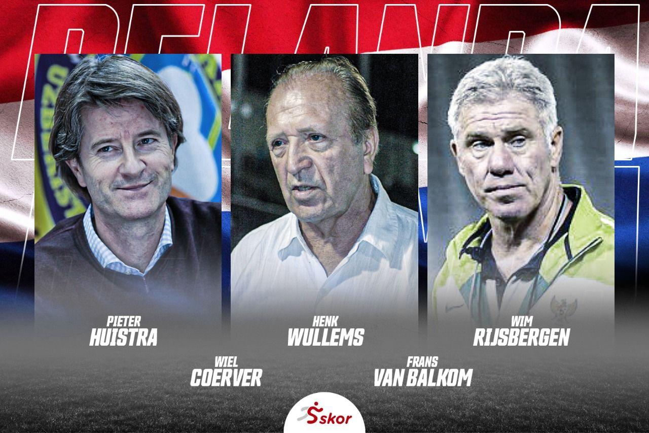 Ilustrasi para pelatih asal Belanda yang pernah menangani  timnas Indonesia.