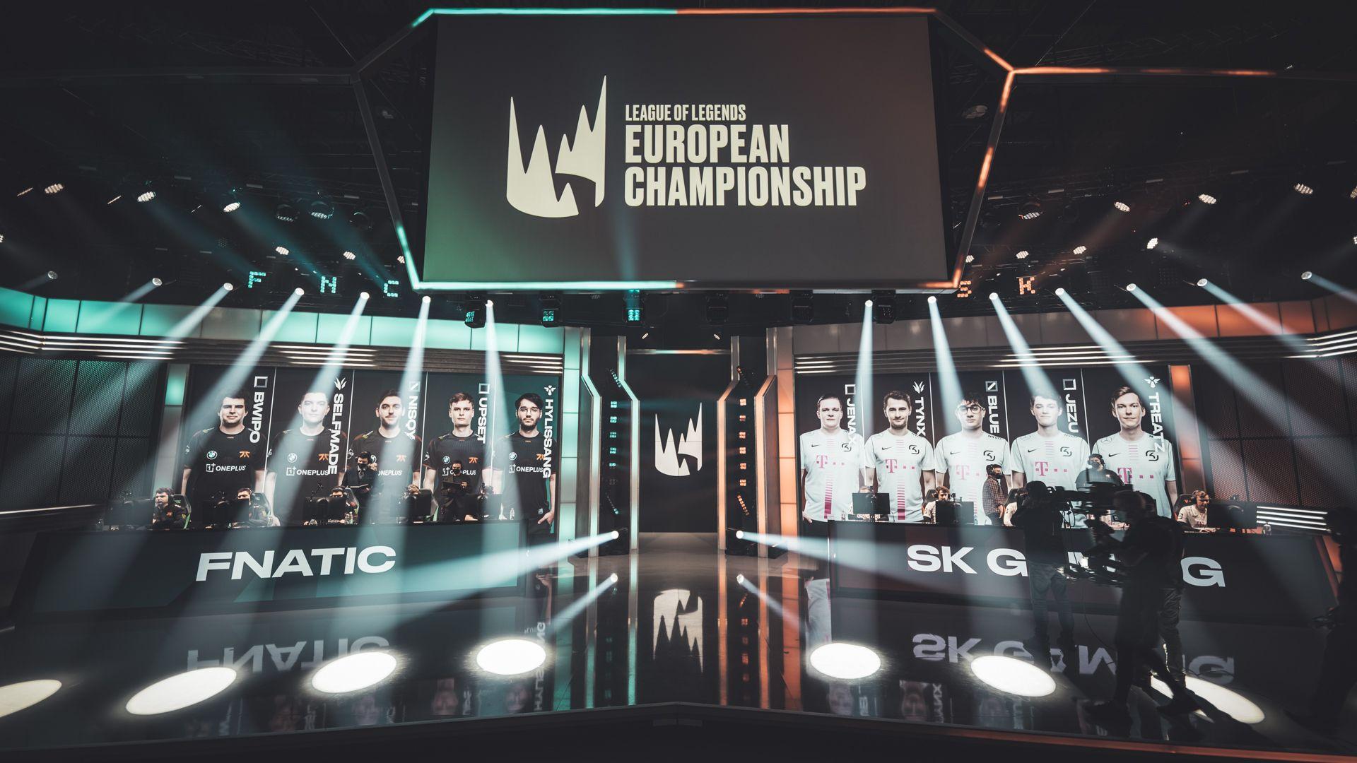 Laga pembukaan babak playoff LEC Spring 2021 antara Fnatic vs SK Gaming.