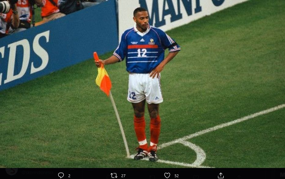 Thierry Henry dalam kariernya bersama timnas Prancis..