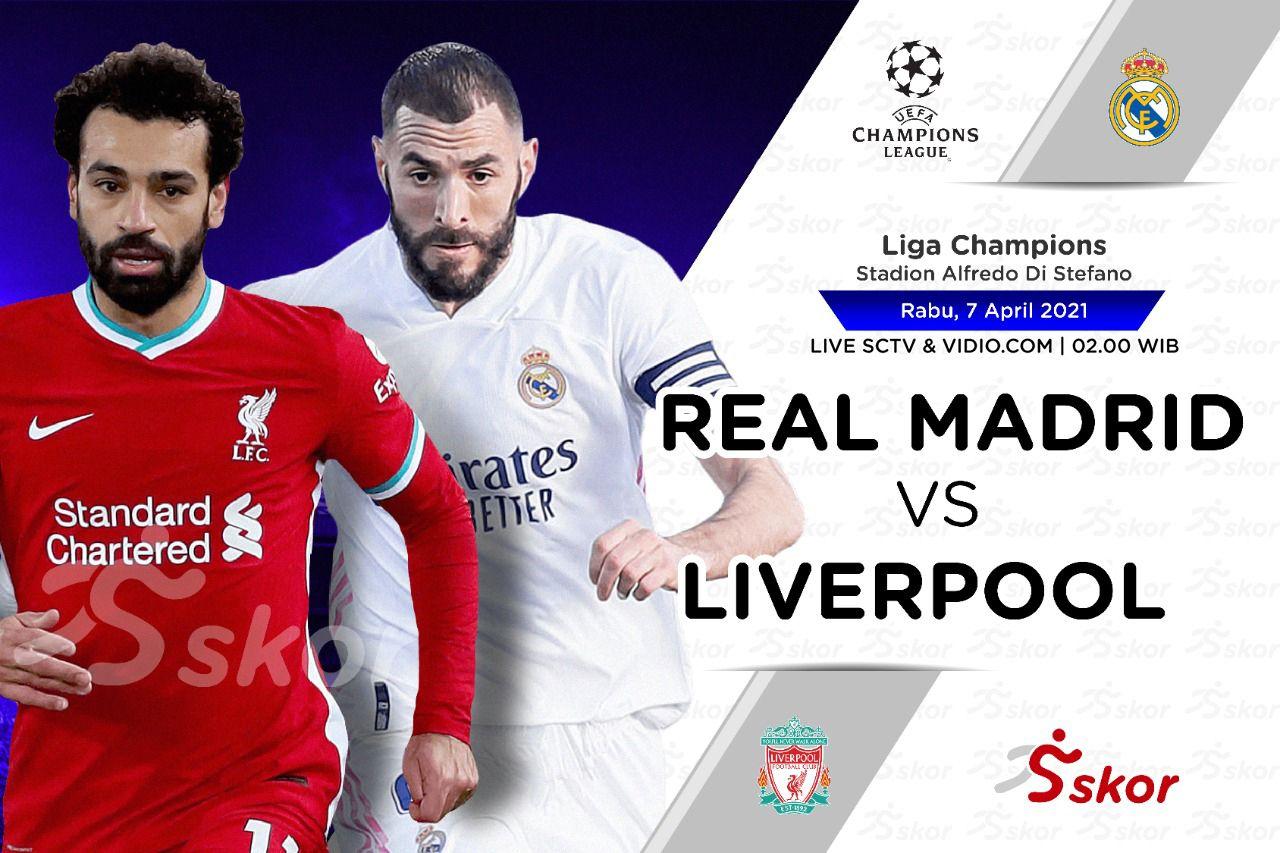 Link Live Streaming Liga Champions: Real Madrid vs Liverpool