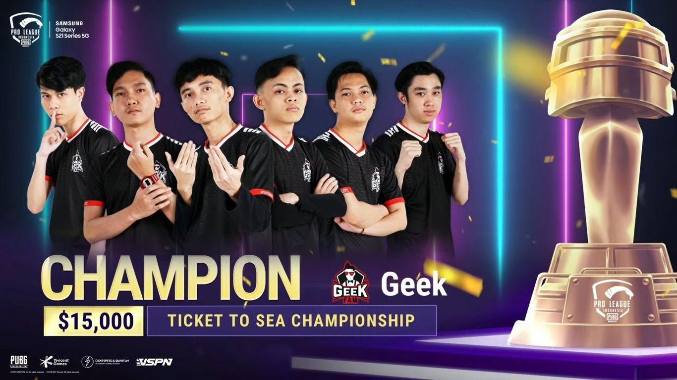 Geek Fam ID berhasil meraih gelar juara PMPL Indonesia season 3.