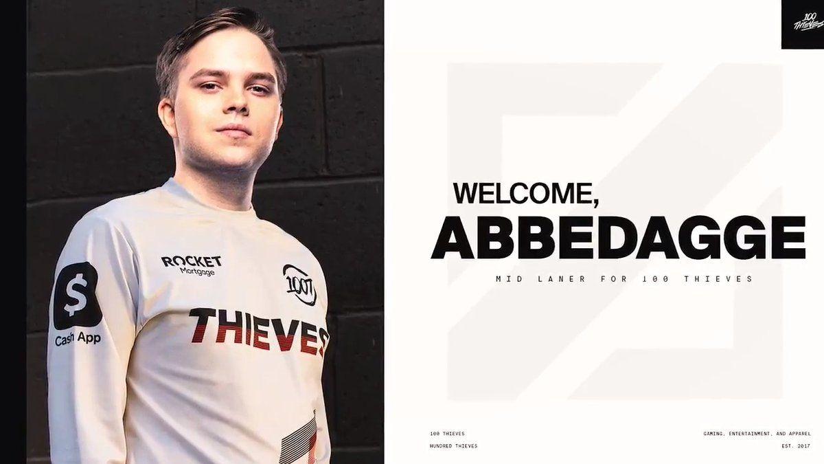 Abbeddage, mantan pemain Schalke 04 Esports yang kini bergabung ke 100  Thieves Esports.