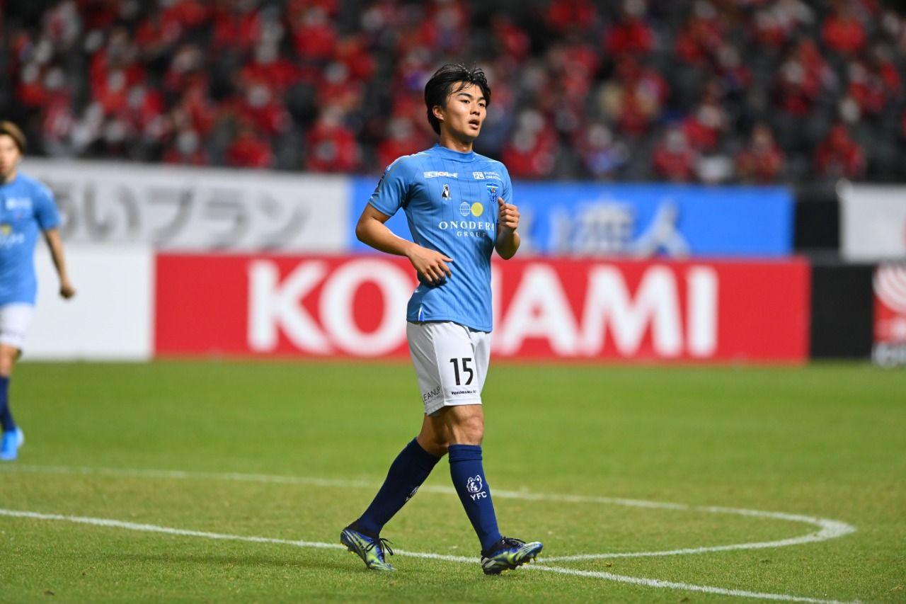 Reo Yasunaga saat membela Yokohama FC di Meiji Yasuda J.League.
