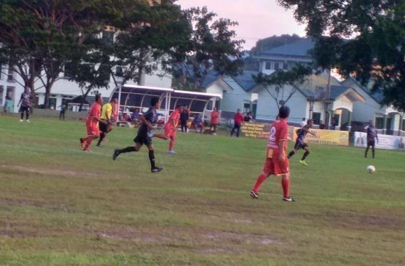 Suasana latihan tim PPLP Maluku di Stadion Mandala Ramaja, Ambon, Kamis (29/4/2021).