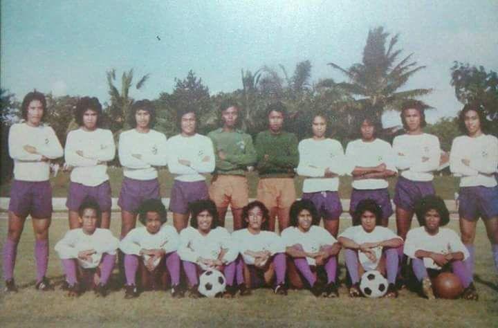Basyirudin (duduk nomor tiga dari kiri) saat bersama pemain tim junior PS Jayakarta pada 1976.