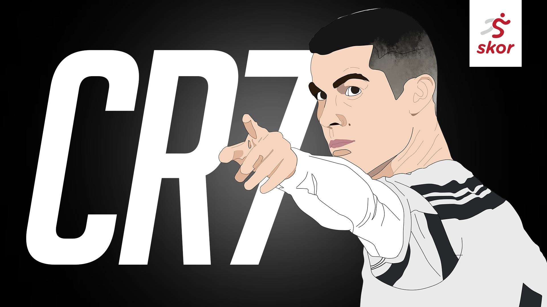 Ilustrasi Cristiano Ronaldo.