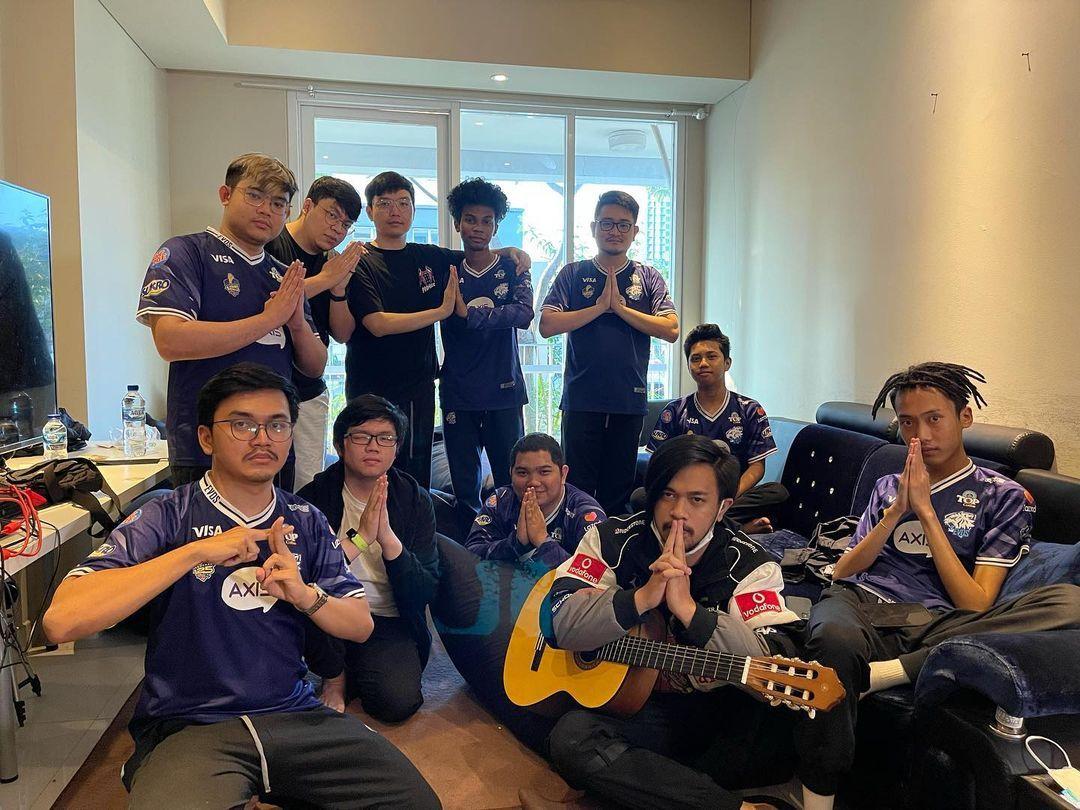 Skuad EVOS Legends di ajang MSC 2021.