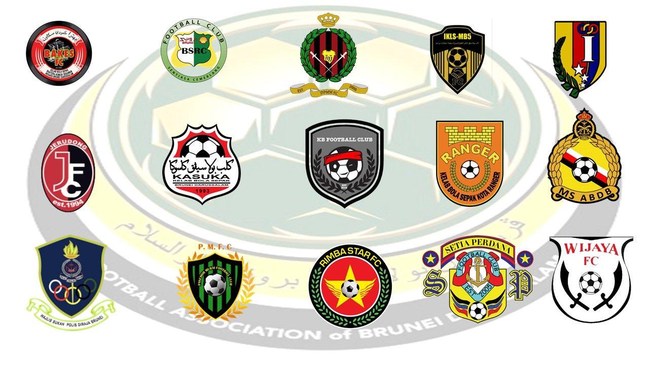 Logo 15 klub kasta teratas Liga Brunei atau Brunei Super League 2021.