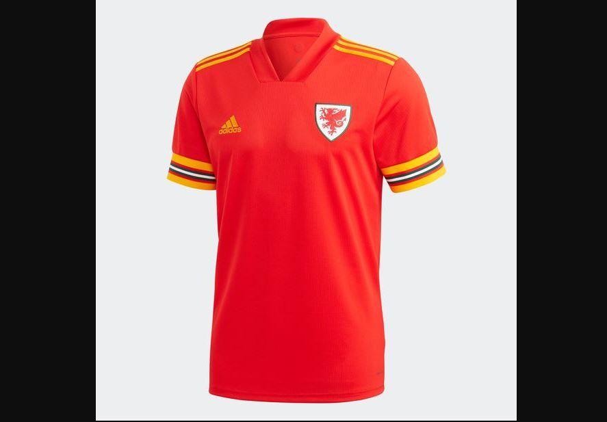 Jersey kandang Wales di Piala Eropa 2020 (Euro 2020).