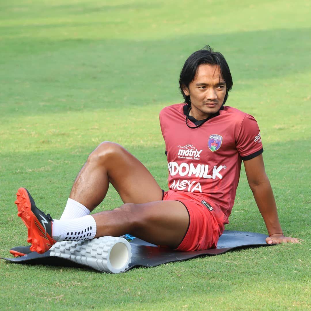 Taufiq Febriyanto saat menjalani latihan bersama Persita Tangerang, 2021