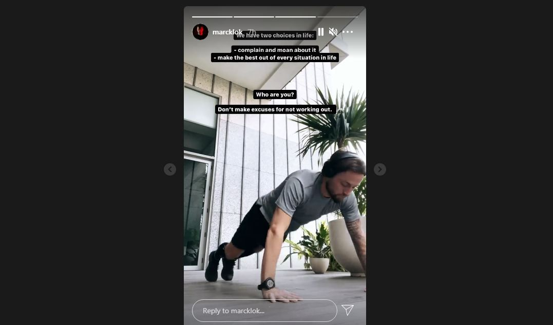 Tangkapan layar story Instagram pemain anyar Persib, Marc Klok, Senin (5/7/2021).