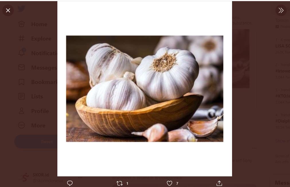 Bawang putih jadi salah satu bahan makanan yang punya banyak manfaat untuk kesehatan.