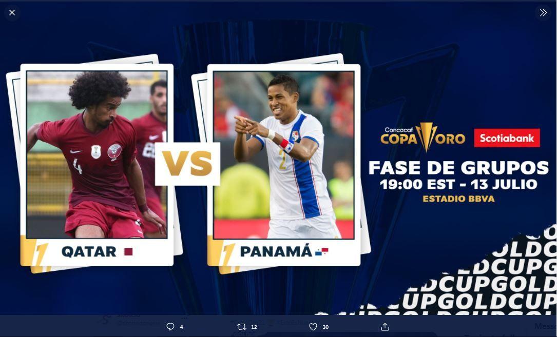 Laga Qatar vs Panama di Piala Emas CONCACAF 2021