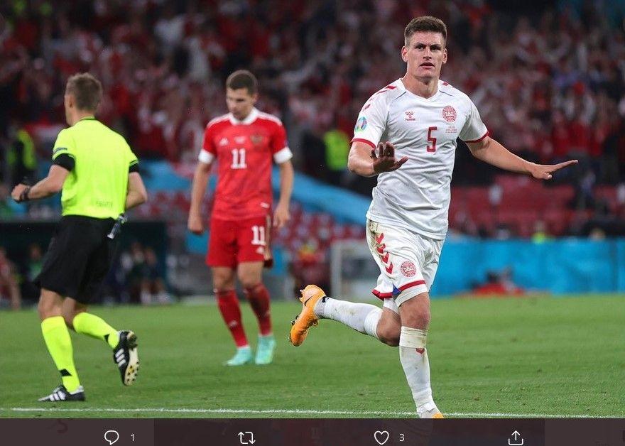 Joakim Maehle salah satu bintang timnas Denmark dalam Euro 2020 lalu.