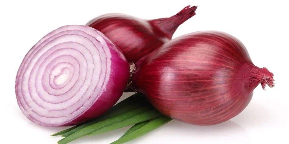 Ilustrasi bawang merah mentah yang baik untuk kesehatan.