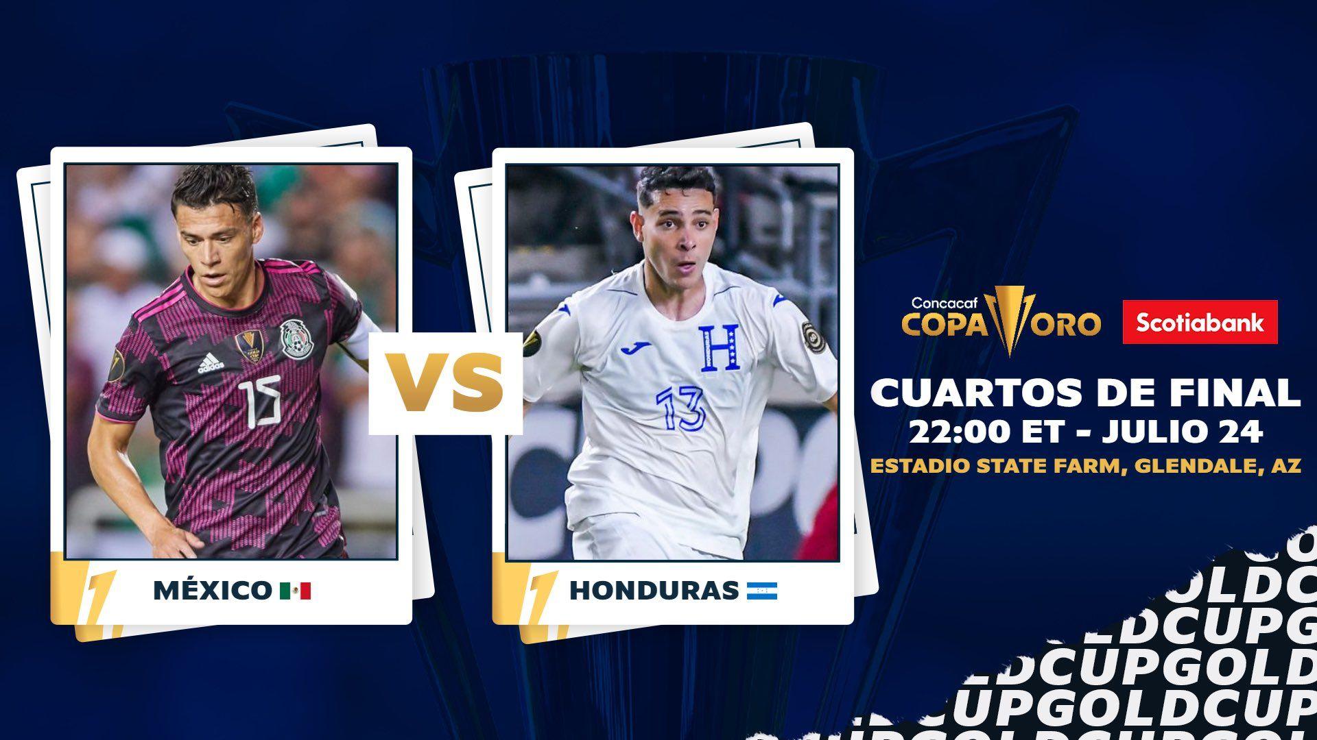 Link Live Streaming Meksiko vs Honduras di Piala Emas CONCACAF 2021