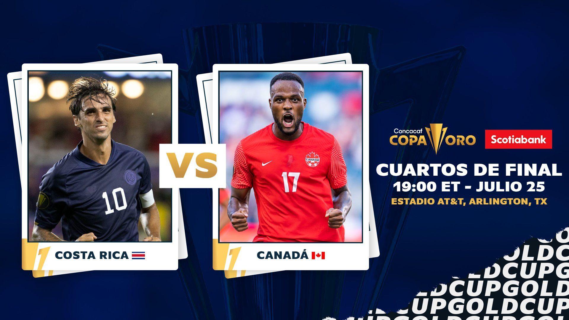 Link Live Streaming Kosta Rika vs Kanada di Piala Emas CONCACAF 2021.