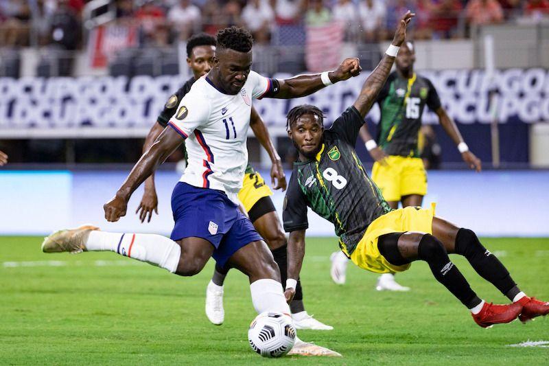 Pertandingan Amerika Serikat vs Jamaika di perempat final Piala Emas CONCACAF 2021, Senin (26/7/2021).