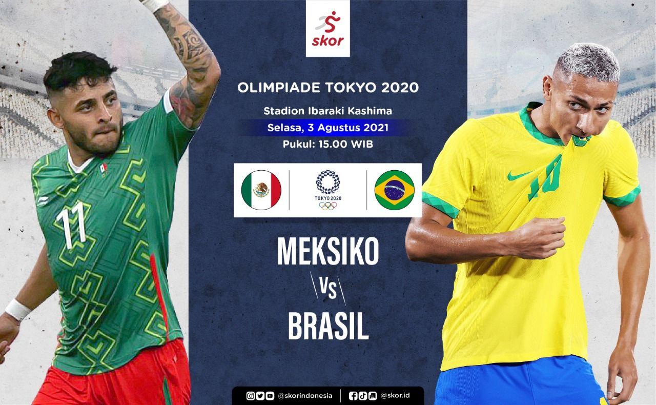 Cover Meksiko vs Brasil