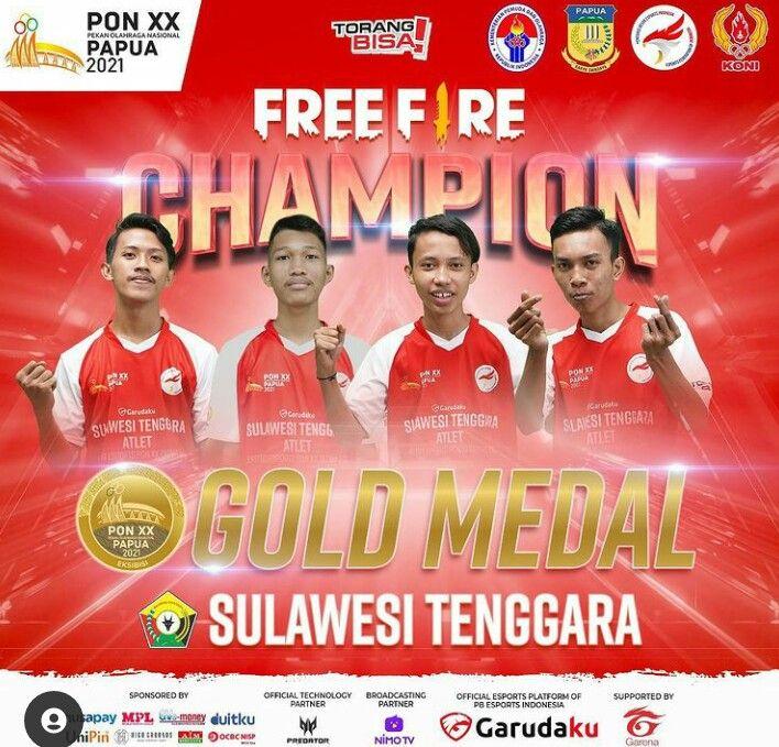 Provinsi Sulawesi Tenggara Raih Juara di PON XX Papua 2021 Esports Free Fire