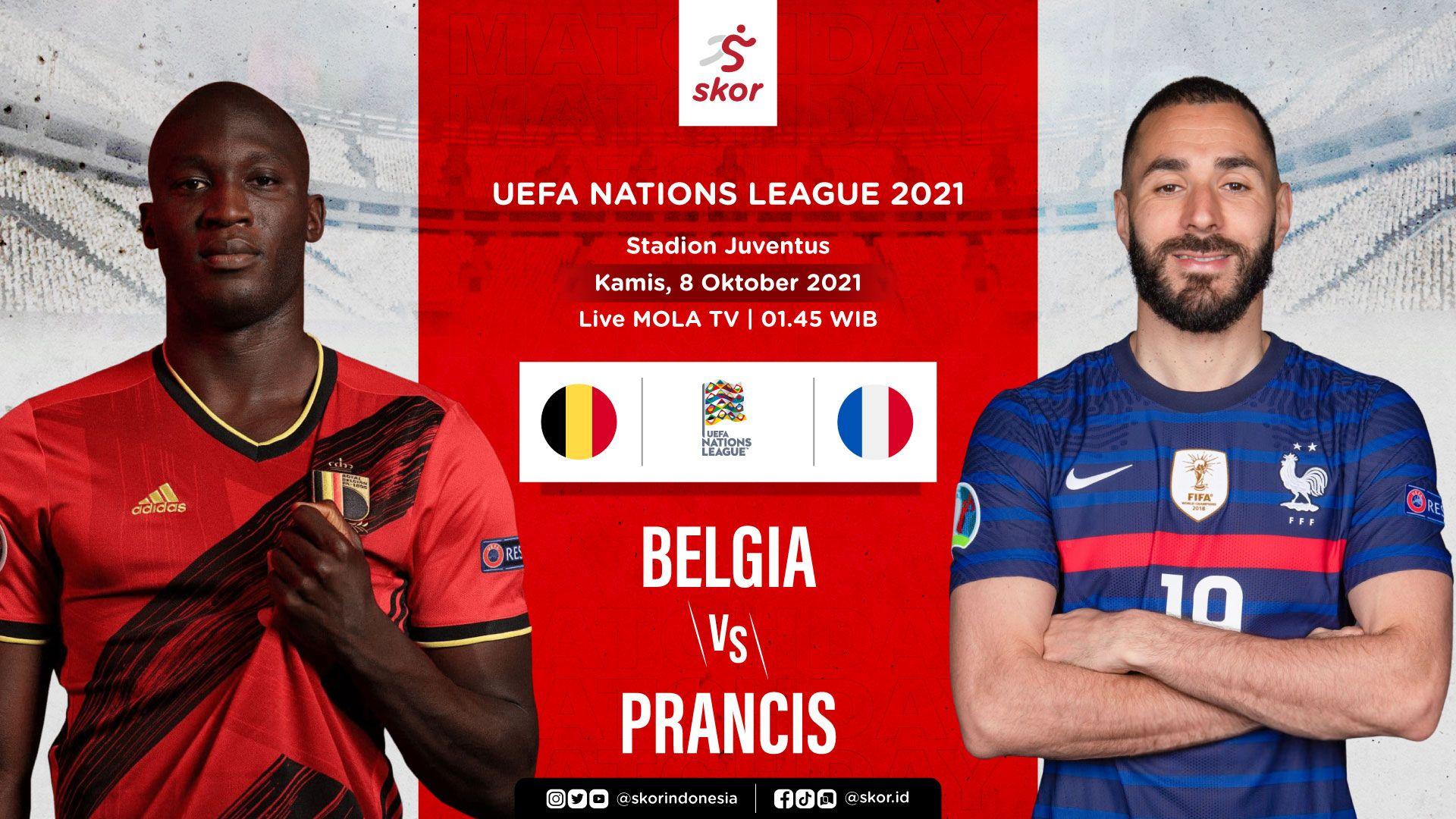 Cover Belgia vs Prancis