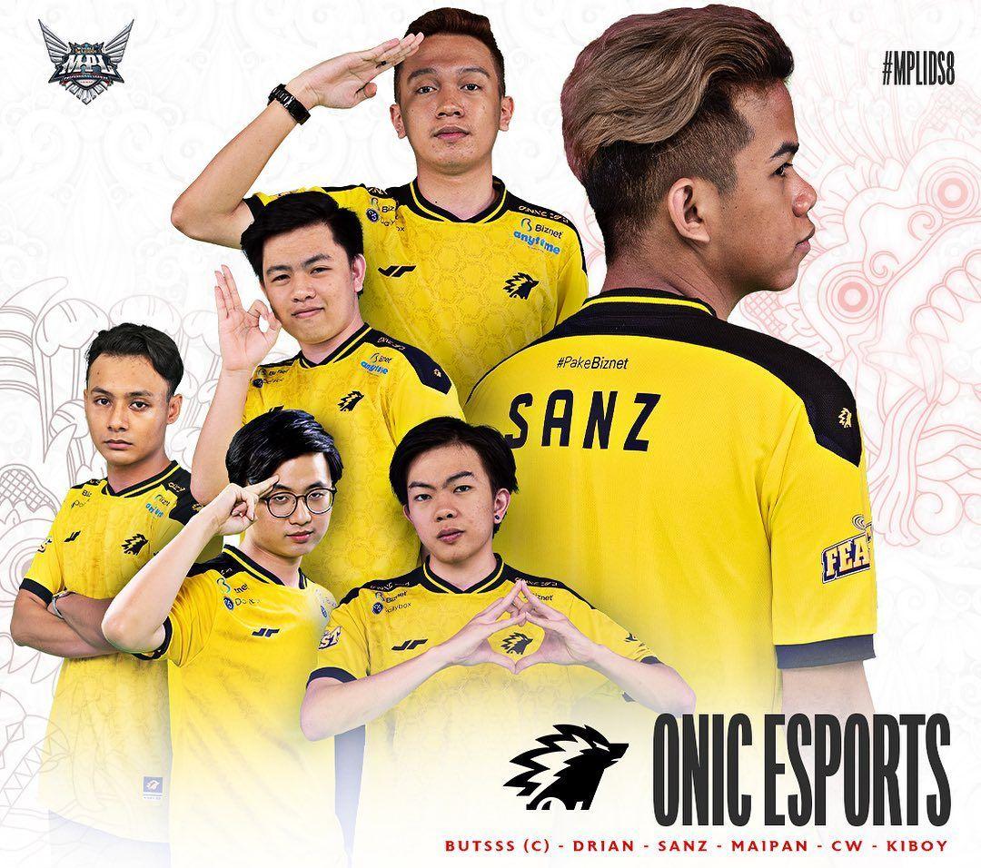 Daftar pemain ONIC Esports untuk MPL ID Sesaon 8.