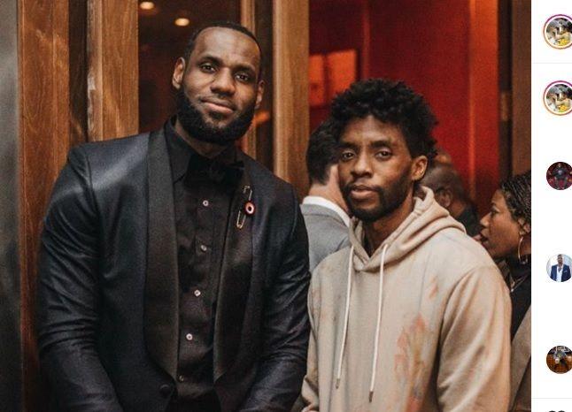 Bintang LA Lakers, LeBron James (kiri) termasuk satu dari banyak atlet dunia yang memberikan ucapan belasungkawa atas kematian aktor Chadwick Boseman pada hari Jumat (28/8/2020) waktu setempat.