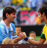 Brasil vs Argentina: Rivalitas dan Persahabatan Neymar dan Lionel Messi